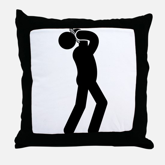 Harmonica Player Throw Pillow