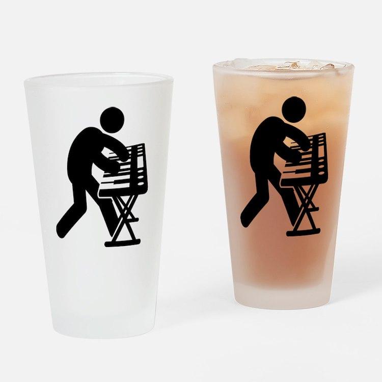 Keyboardist Drinking Glass