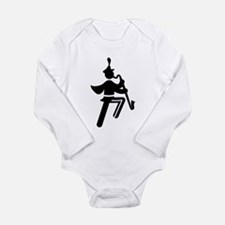 Bass Clarinet Long Sleeve Infant Bodysuit