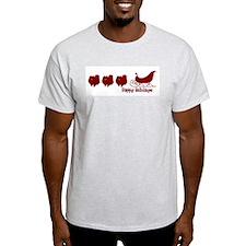 "Pomeranian ""Sleigh"" Ash Grey T-Shirt"