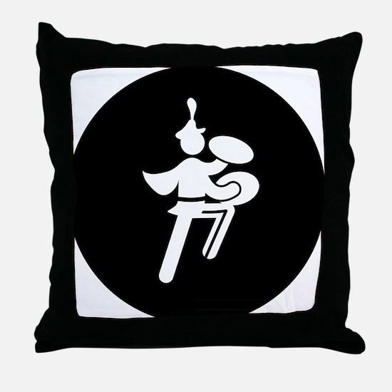 Bass Cymbal Throw Pillow