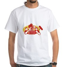 Film Director Movie Camera Clapper Soundman Shirt