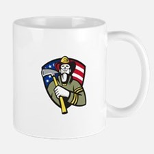 American Fireman Firefighter Emergency Worker Mug