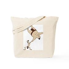 Funny Sumo Wrestler Tote Bag