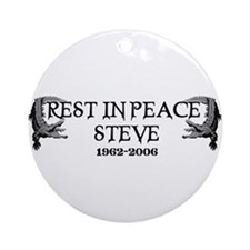 RIP Steve Irwin Ornament (Round)