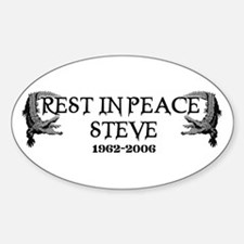 RIP Steve Irwin Oval Decal
