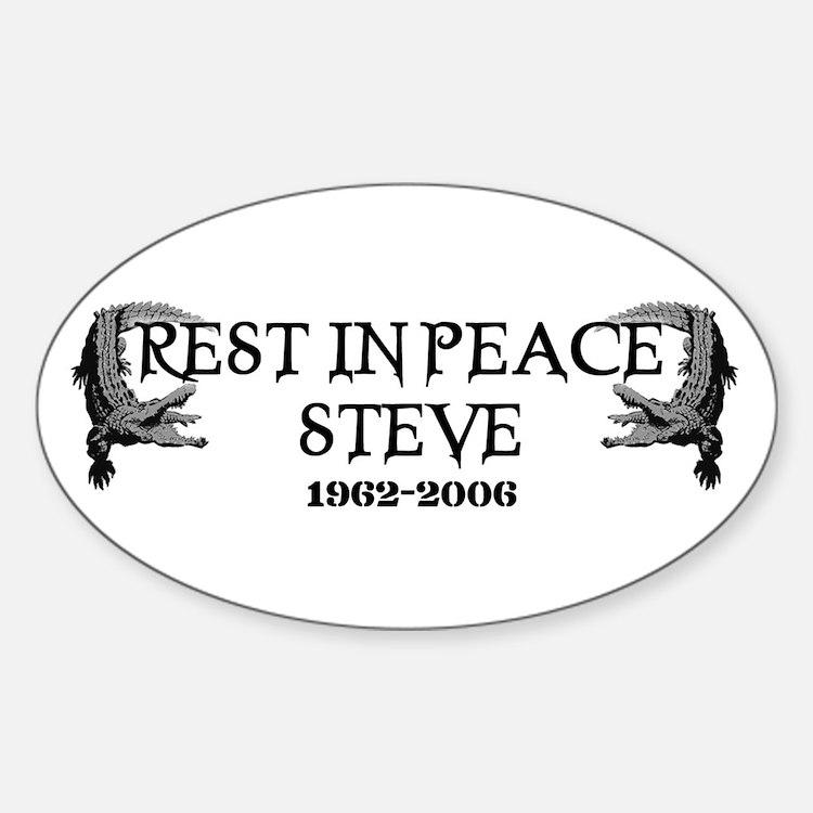 RIP Steve Irwin Oval Decal