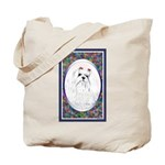 Maltese Dog Designer Tote Bag 4