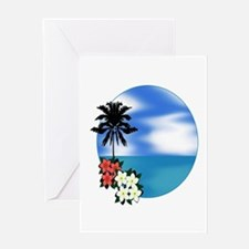 PALM SWEPT Greeting Cards