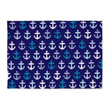 Blue anchors 5'x7'Area Rug