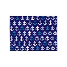 Blue anchors 5'x7'Area Rug