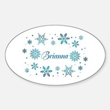 Custom name Snowflakes Decal