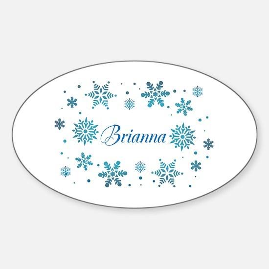Custom name Snowflakes Sticker (Oval)