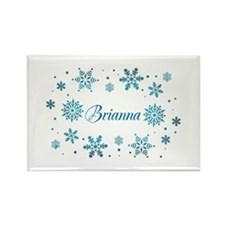 Custom name Snowflakes Rectangle Magnet