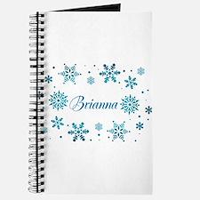 Custom name Snowflakes Journal