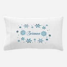 Custom name Snowflakes Pillow Case