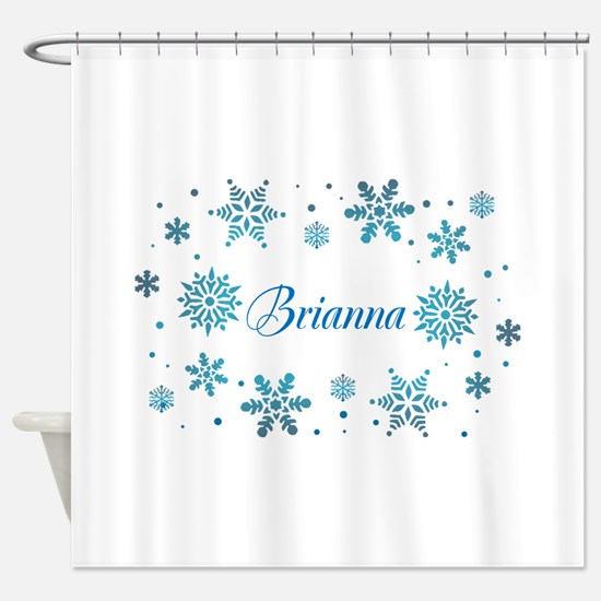 Custom name Snowflakes Shower Curtain