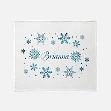 Custom name Snowflakes Throw Blanket