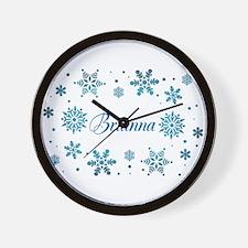 Custom name Snowflakes Wall Clock