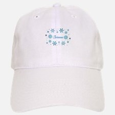Custom name Snowflakes Cap