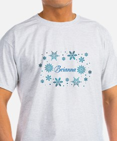 Custom name Snowflakes T-Shirt