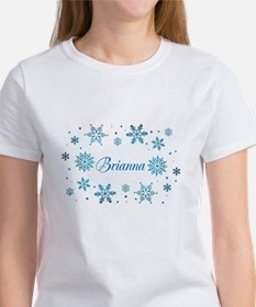 Custom name Snowflakes Tee