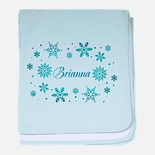 Custom name Snowflakes baby blanket