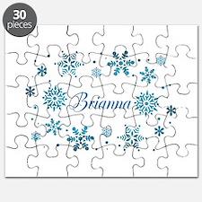 Custom name Snowflakes Puzzle