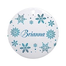 Custom name Snowflakes Ornament (Round)