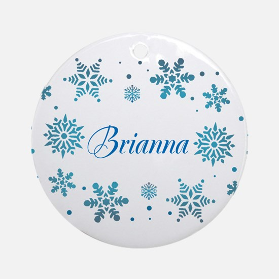 Custom name Snowflakes Ornament (Round)