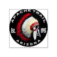 "Apache Trail Logo Square Sticker 3"" x 3"""