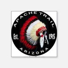 "Apache Trail Logo Square Sticker 3"" x 3"""