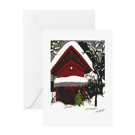 Japanese Style House Christmas Greeting Card