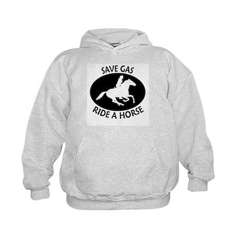 Save Gas Ride A Horse Endurance Kids Hoodie