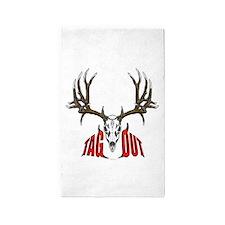 Mule deer tag out 3'x5' Area Rug