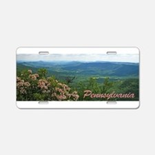 Pennsylvania Mountain Laurel Aluminum License Plat