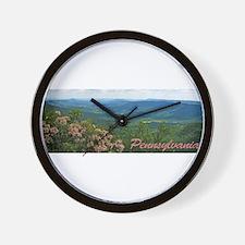 Pennsylvania Mountain Laurel Wall Clock