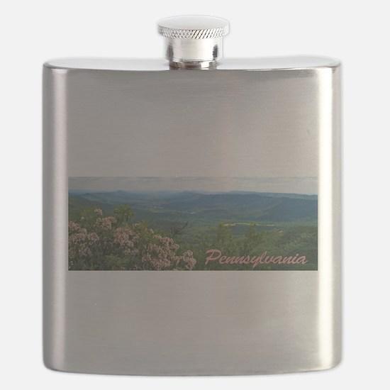 Pennsylvania Mountain Laurel Flask