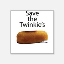 "Save The Twinkie's Square Sticker 3"" x 3"""