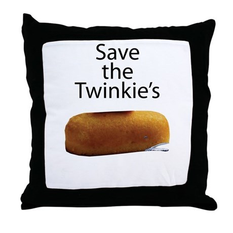 Save The Twinkie's Throw Pillow