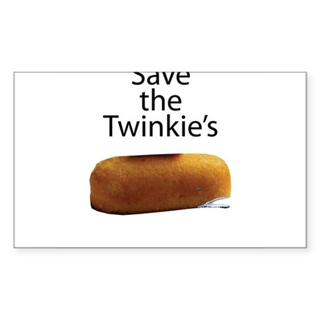 Save The Twinkie's Sticker (Rectangle)