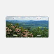 Pennsylvania Mountain Laurel Scene Aluminum Licens