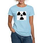 Radioactive Symbol Women's Pink T-Shirt