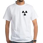 Radioactive Symbol White T-Shirt