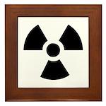 Radioactive Symbol Framed Tile