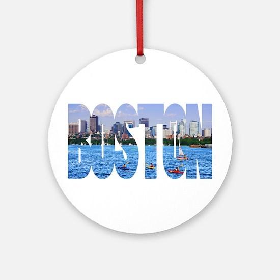 Boston Back Bay Skyline Ornament (Round)