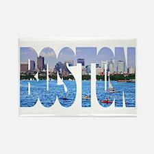 Boston Back Bay Skyline Rectangle Magnet (10 pack)