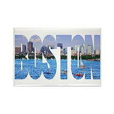 Boston Back Bay Skyline Rectangle Magnet