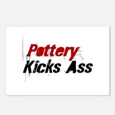 Pottery Kicks Ass Postcards (Package of 8)