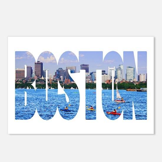 Boston Back Bay Skyline Postcards (Package of 8)